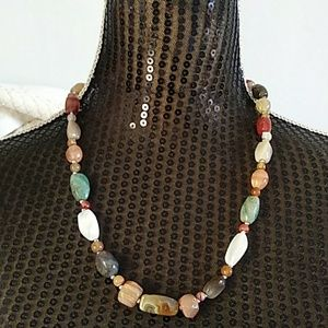 Jewelry - Gem Stone Bead Necklace.